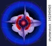 circular arrows on dark... | Shutterstock .eps vector #142345405