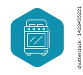 cooker stove icon. outline... | Shutterstock .eps vector #1423455221