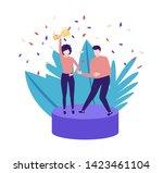 success people vector... | Shutterstock .eps vector #1423461104