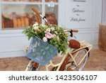 Bicycle With A Vintage Wicker...