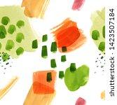 paint spots abstract pattern.... | Shutterstock . vector #1423507184