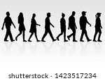 group of people. crowd of... | Shutterstock . vector #1423517234