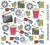 illustration of icon of cinema  ... | Shutterstock .eps vector #142351759