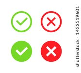 check and cross mark icon vector   Shutterstock .eps vector #1423519601