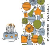 vector birthday background.... | Shutterstock .eps vector #1423523174