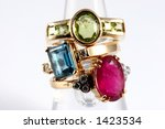 Red Green And Blue Topaz On...