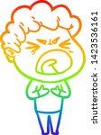 rainbow gradient line drawing... | Shutterstock .eps vector #1423536161