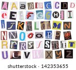English Alphabet Cut From...