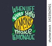 inspiring lettering saying when ... | Shutterstock .eps vector #1423563401