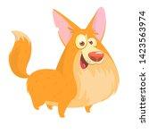 pembroke welsh corgi dog... | Shutterstock . vector #1423563974