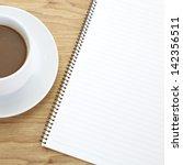 opened note book   Shutterstock . vector #142356511