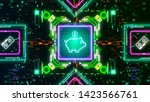 electronic and digital currency ... | Shutterstock . vector #1423566761