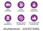 e commerce security badges risk ...   Shutterstock .eps vector #1423573481
