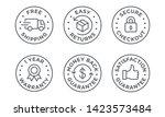 e commerce security badges risk ... | Shutterstock .eps vector #1423573484