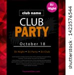 party flyer poster. futuristic... | Shutterstock .eps vector #1423576544