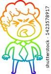 rainbow gradient line drawing... | Shutterstock .eps vector #1423578917