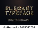 elegant golden font and...   Shutterstock .eps vector #1423583294