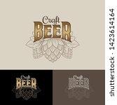 craft beer logo. brewing... | Shutterstock .eps vector #1423614164