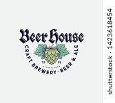 beer house logo. brewing... | Shutterstock .eps vector #1423618454