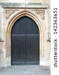 Old Massive Church Door Of The...
