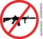 assault weapons ban  awb  in... | Shutterstock .eps vector #1423644014