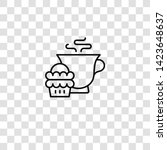 teacup icon from high tea... | Shutterstock .eps vector #1423648637