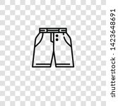 shorts icon from  collection...   Shutterstock .eps vector #1423648691