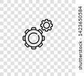 cogwheel icon from  collection... | Shutterstock .eps vector #1423650584