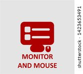 filled monitor and mouse icon.... | Shutterstock .eps vector #1423653491