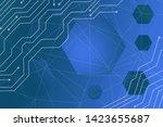 beautiful blue abstract...   Shutterstock . vector #1423655687