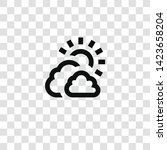 cloudy icon from miscellaneous... | Shutterstock .eps vector #1423658204