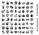 elegant food icons set created...   Shutterstock .eps vector #142366264