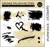 grunge splash vectors | Shutterstock .eps vector #14236690