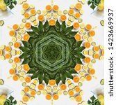 Orange And Lemon Fruits In...