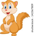 cute squirrel cartoon | Shutterstock . vector #142367809