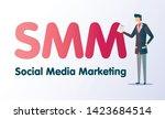 smm metrics flat color vector...