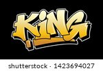 Gold Inscription King Graffiti...