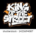 graffiti white inscription king ... | Shutterstock .eps vector #1423694087