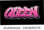pink inscription queen graffiti ... | Shutterstock .eps vector #1423694174