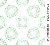 seamless pattern of radial and... | Shutterstock .eps vector #1423694921