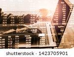 stock market or forex trading... | Shutterstock . vector #1423705901
