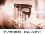 stock market or forex trading... | Shutterstock . vector #1423705904