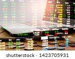 stock market or forex trading... | Shutterstock . vector #1423705931