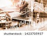 stock market or forex trading... | Shutterstock . vector #1423705937