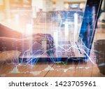 stock market or forex trading... | Shutterstock . vector #1423705961