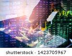 stock market or forex trading... | Shutterstock . vector #1423705967
