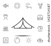 tent icon. simple thin line ...