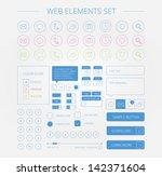 clean web elements set bitmap...