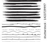 lines hand drawn brash stroke.... | Shutterstock .eps vector #1423729997