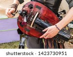 Close Up Of Musician Playing...